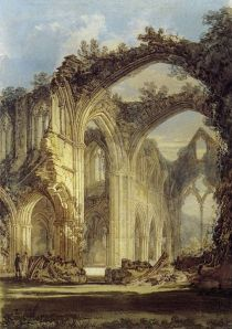 J.M.W. Turner, The Chancel and Crossing of Tintern Abbey, Looking towards the East Window, 1794,