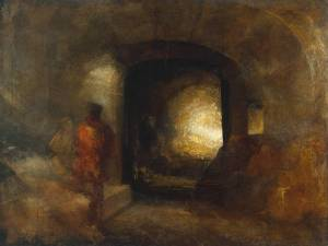Joseph Turner. Figures in a building