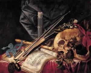 Vanitas, del pintor francés Simón Renard de Saint-André (1613-1677)