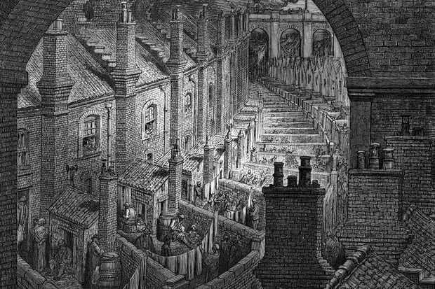 'Over London by Rail', 1872. Artist: Adolphe François Pannemaker